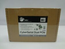 Siig Jj-E10D11-S3 CyberSerial Dual Pcie*New Unused*