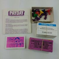 Payday Board Game 1975 Parker Brothers Vintage REPLACEMENT Pieces Parts