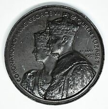 1937 King George VI & Queen Elizabeth Coronation Bronze Medal 44mm