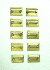 Us miniature medal sewn slot brooch with rolling catch, lot of 10
