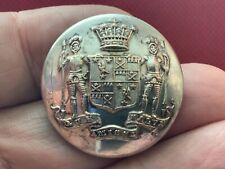 Earl of Kintore (Keith-Falconer) Full Coat Of Arms 28mm S/P Livery Button Firmin