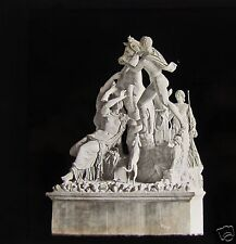 Glass Magic Lantern Slide MARBLE STATUE NAPLES MUSEUM C1890 ITALY NAPOLI