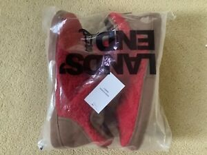 Lands End Ladies Fleece Slipper Boots Size 7, New With All Tags