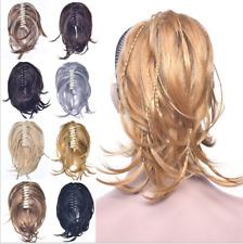 "12"" Short Braid Irregular Curly Claw Clip 100% Remy Human Hair Ponytail 110g"