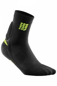 CEP Achilles Support Short Socks, Mens Size IV, Black/Green, NIB, WO571