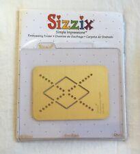 Sizzix Provo Simple Impressions Embossing Folder Brass Stencil - Argyle