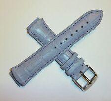 TechnoMarine Genuine Alligator Leather Watch Strap Band 17MM Lavender - 1134 NEW