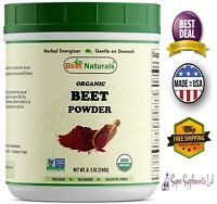 ORGANIC BEET ROOT POWDER 8.5 oz Natural Booster Pre-workout Drink Supplement