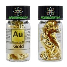 Gold Metal 99 99 (24k) Element 79 AU Foil in Fulfilled and Labeled Glass Vial