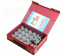 19pcs Chinese Cupping Vacuum Massage Set Medical Therapy Diet Health Acupuncture