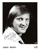 BOBBY WRIGHT SIGNED 8x10 PRESS PHOTO-COUNTRY MUSIC-SON OF KITTY WELLS