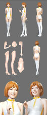 1/12 WESTERN PIT GRID GIRL BABE CATSUIT HIGH BOOTS STANDING for TAMIYA DOYUSHA O