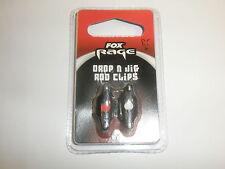 FOX Rage Drop n Jig Rod Linea Clip Attrezzatura Da Pesca 2pk