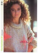 HINTS OF PINK knitting pattern, sweater - Marshall Cavendish pamphlet FF33
