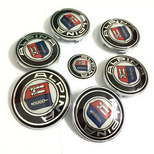 7PCS Car emblems hood/trunk/steering/wheel hub badge for Alpina B3 B5 B6 B7