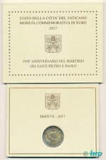 Original Vatikan 2 Euro Gedenkmünze 2017 - 1950 Jahre Martyrium Peter u. Paul