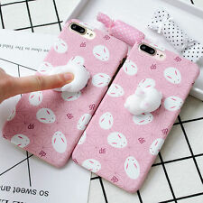 3D Cartoon Squishy Panda Rabbit Soft Gel Phone Case Cover for iPhone 7 Plus Gift