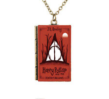 Creative Miniature Harry Potter and the Deathly Hallows TINY Book Necklace