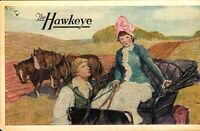 "Vintage Advertising Postcard ""The Hawkeye"" book by Herbert Quick *Free Ship*"