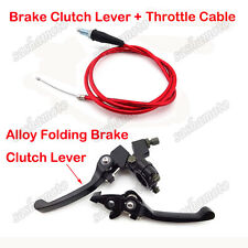 Red Throttle Cable Brake Clutch Lever For CRF50 SSR Thumpstar KLX Pit Dirt Bike