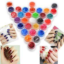 Nail Art UV Gel Set Farbig 5ml Glimmer Effekt UV Gel Werkzeug 31 Farbe