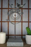Grey Bird Glass Plant Holder - Hydroponic Vase for Home Decoration - Modern