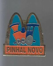 RARE PINS PIN'S .. MC DONALD'S  RESTAURANT PINHAL LOVO TRAIN GARE BRESIL ~12