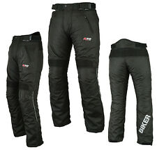 "Biker Hivis Motorbike Motorcycle Trouser Thermal Waterproof Textile Pants Armour 34 Short 30"" - 76cm"