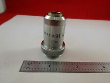 MICROSCOPE PART OBJECTIVE PL 16X LEITZ GERMANY OPTICS AS IS BIN#R2-C-07