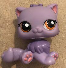 LITTLEST PET SHOP PERSIAN KITTY CAT PURPLE LONG HAIR ORANGE EYES  LPS