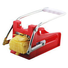 2 Blades Stainless Steel French Fry Cutter Potato Vegetable Slicer Chopper Dicer