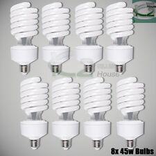 8x 45W 5500K Photo Studio Day Light Balanced CFL Bulbs Compact Fluorescent Lamps
