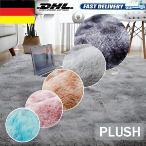 Flauschige Teppich Hochflor Soft Shaggy Flokati Langflor Fußmatte Läufer Weich