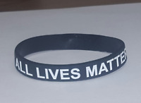 All Lives Matter silicone wristband bracelet Peace support we all matter