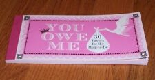 """BABY....you owe me   """"Baby""""  STORK FAVOR BOOKLET  of  FAVORS # 1X135"""