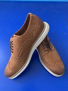 Size 8 Men Cole Haan Original Grand Wingtip Leather Dress Formal Shoes
