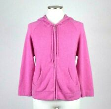 Lord & Taylor Cashmere Full Zip Sweater Hoodie Hood Jacket Super Soft Womens M