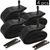 """4PCS 20"""" inch Inner Bike Tube 20 x 1.75 - 2.125 Bicycle Rubber Tire Interior BMX"""