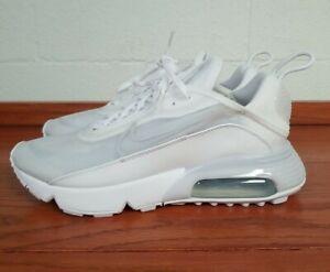 NEW Nike Air Max 2090 White Grey Platinum Running Shoes BV9977-100 Mens Size 8