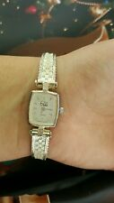 VINTAGE ,ESTATE .925 STERLING SILVER,ITALY LADIE'S WATCH EXCELLENT COND .