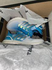Adidas Ultraboost 20 Running Shoes Footwear White Silver Metallic Sky Blue Aqua