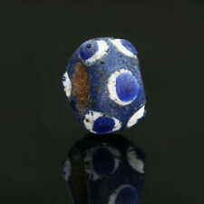 Ancient glass beads: genuine stratified eye bead, 4-3 century BC, Mediterranean