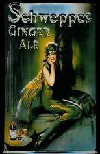 Schweppes Ginger Ale Motiv 2 Blechschild Schild 3D geprägt Tin Sign 20 x 30 cm