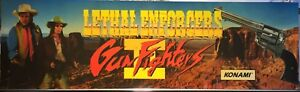 """Lethal Enforcers 2 Arcade Marquee 27""""x8"""""""