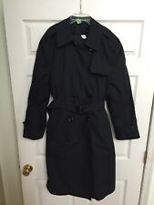 DSCP Garrison Collection All Weather Trench Coat Zip Liner Black Women's 14R