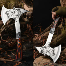 12'' Survival Camping Tomahawk Axe Hatchet Hunting Knife Tactical Military Wolf