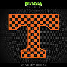 """Tennessee - T Checkerboard - NCAA - Orange Vinyl Sticker Decal 5"""""""