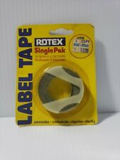 Nos Vintage 38 95mm Labeling Label Tape Black Rotex Single Pak Roll New
