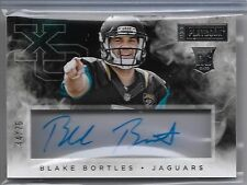 2014 Playbook XO Blake Bortles On Card Auto Rc Serial # to 75