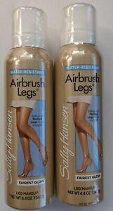 2PCS SALLY HANSEN AIRBRUSH LEGS SPRAY-ON LEG MAKEUP FAIREST GLOW 4.4oz